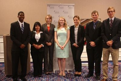 SHSU Students with the NPF's Ann Stehling
