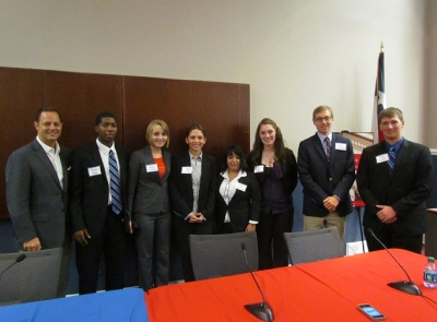 Representative Rafael Anchia with SHSU Students