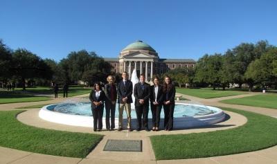 SHSU Students in Front of Dallas Hall