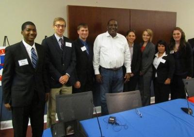SHSU Students with TX Senator West