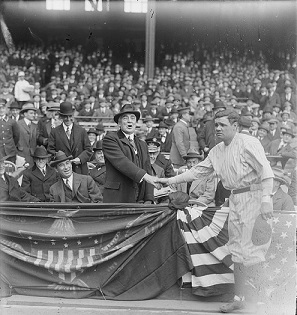 President Harding with Babe Ruth