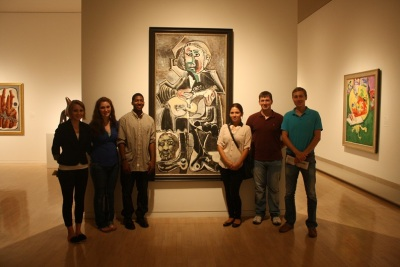 "SHSU Students and Picasso's ""Guitarist"""