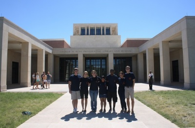 SHSU Students at George W. Bush Library