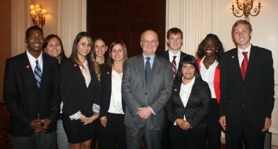 SHSU Students with General Hayden