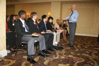 Brian King, Zach Goodlander, and Other SHSU Students Listen to General Hayden
