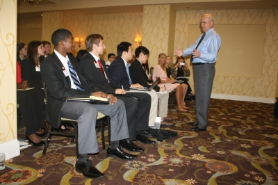 Brian King, Zach Goodlander, and Other SHSU Students Listen to General Hayden