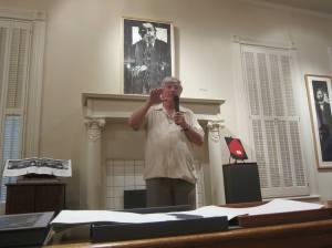Charles Jones Speaking at the Wynne Home