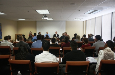 Students and Panelists at the LEAP Center Legal Seminar