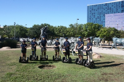SHSU Students at Pioneer Plaza--On Segways