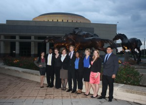 Sam Houston's LEAP Center Students at the Bush Library