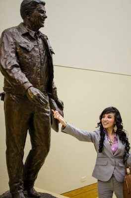 Ronald Reagan and Jessica Rodriguez