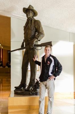 John Wayne with Zach