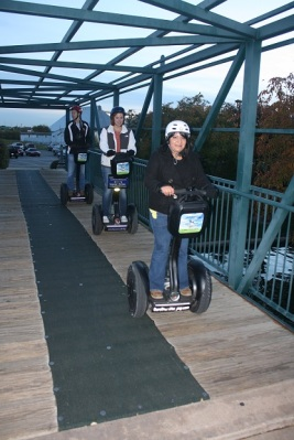 Dulce, Constance, & Zach on Segways
