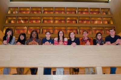 LEAP Center Students in LBJ Library