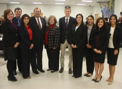Representative Otto with LEAP Center Students