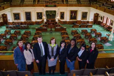 LEAP Center Students in Senate Gallery