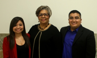 Veronica Vera, Rep. Senfronia Thompson, Oscar Aguilar