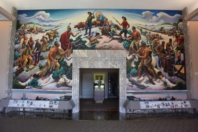 Harry Truman Library, With Mural by Thomas Hart Benton