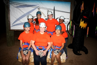 LEAP Center Students Ready to Zip Line!