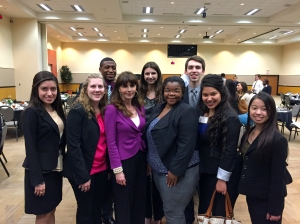 Diane Gottsman with LEAP Center Students