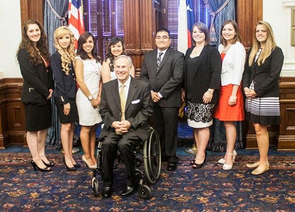 Austin Interns with Governor Abbott