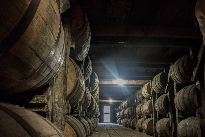 Bourbon, Barrels, Buffalo Trace Distillery, Frankfort, Kentucky