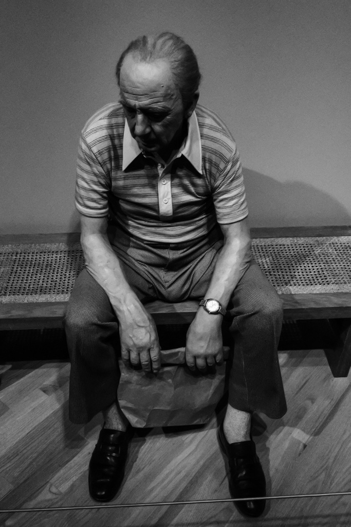 Duane Hanson, Man on Bench, Crystal Bridges Museum of American Art