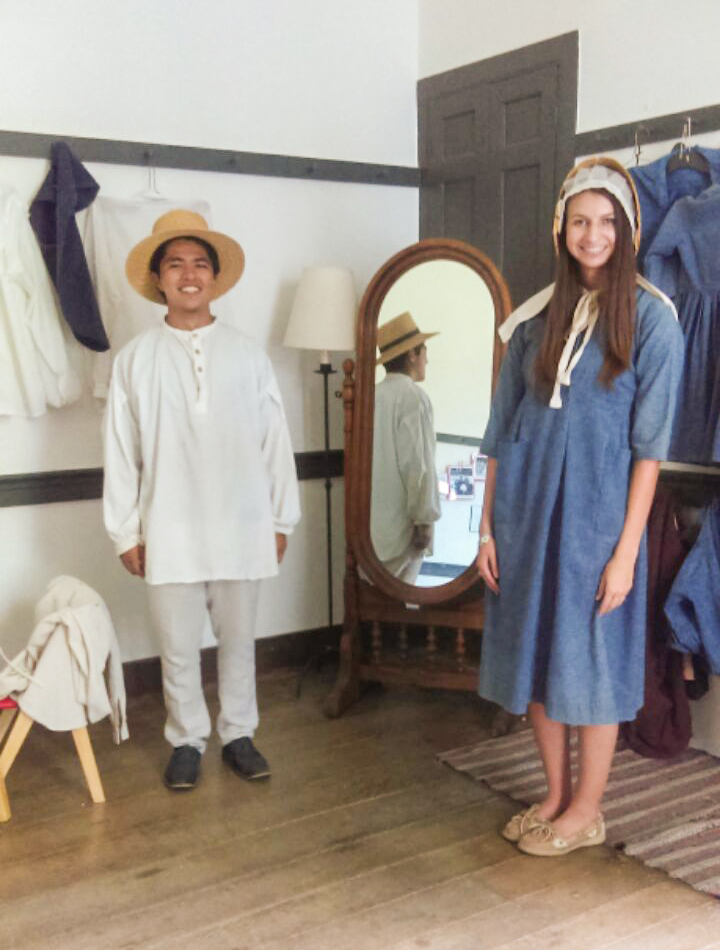 """""""Shaker"""" Attire Worn by Brian and Kaitlyn, Standing the Traditional Distance Apart"""