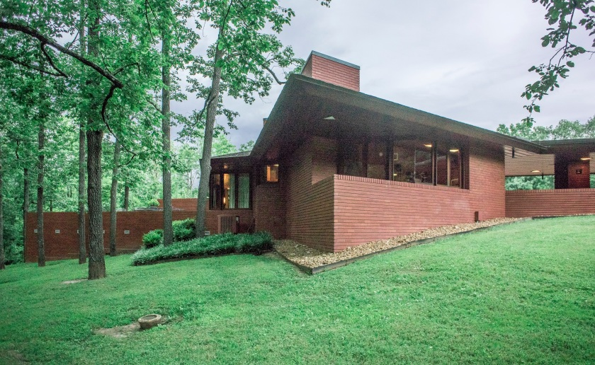 Frank Lloyd Wright, Kraus Home, Ebsworth Park, St. Louis, Architecture