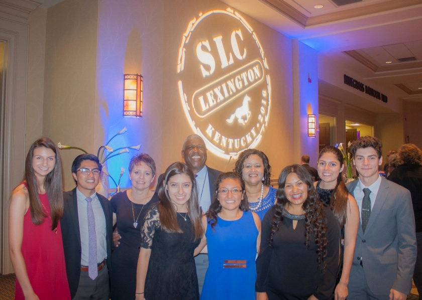 LEAP Ambassadors with Floyd and Mamie Nicholson at the SLC State Dinner