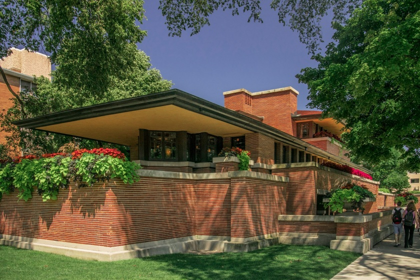 Frank Lloyd Wright, Robie House, Chicago, Prairie Style