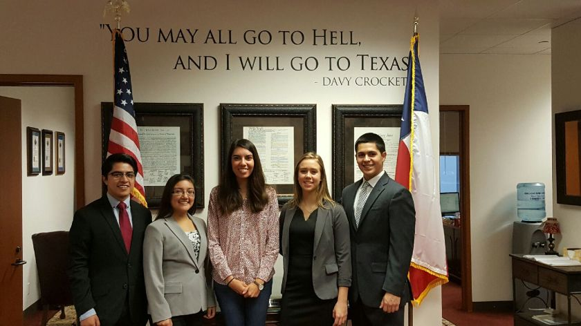 Senator Charles Schwertner's Office, LEAP Students, SHSU