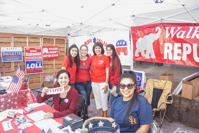Fair on the Square, Huntsville, Republican Booth, LEAP Ambassadors