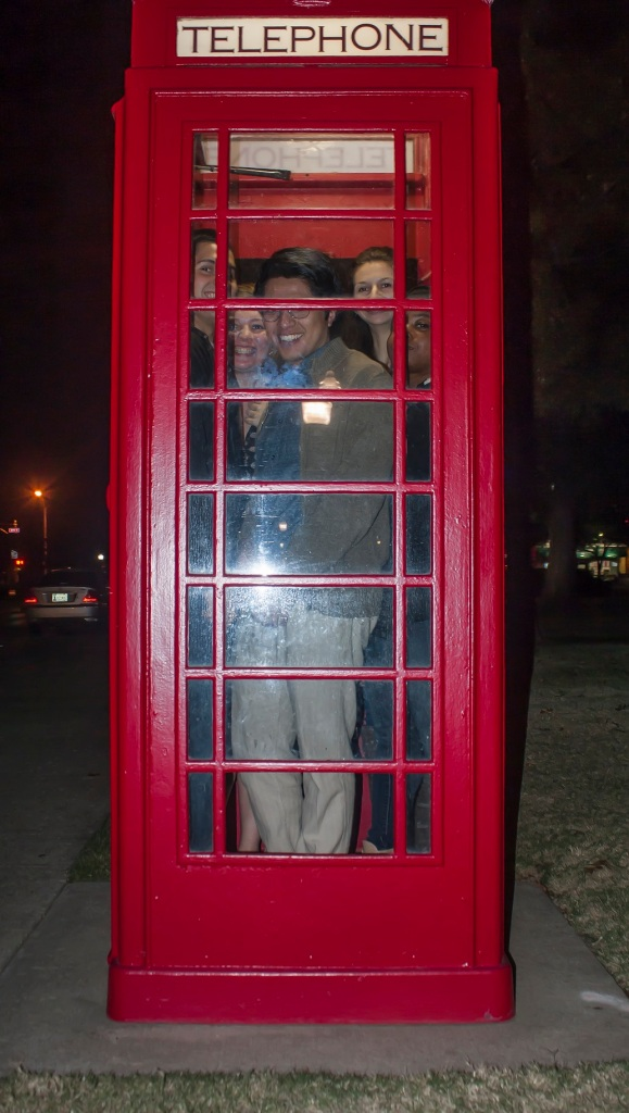 Telephone Booth Stuffing, LEAP Center, OU Campus, SHSU