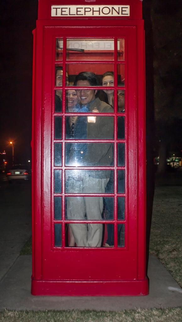 Telephone Booth Stuffing, LEAP Center, OU Campus, SHSU