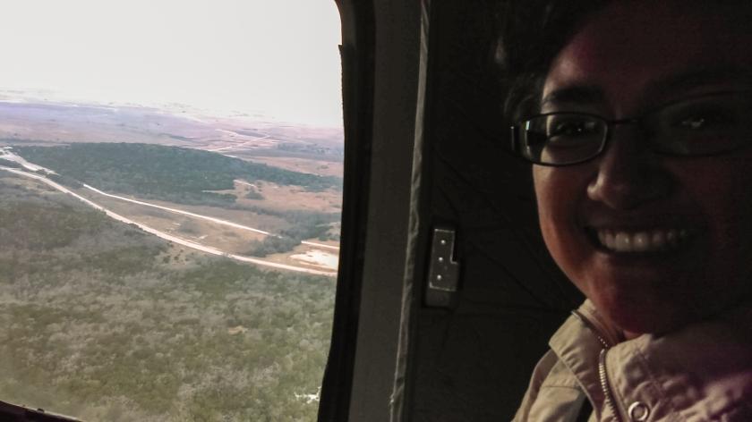 LEAP Center, Austin, Sam Houston Austin Interns (SHAIP), Helicopter, Beatriz Martinez