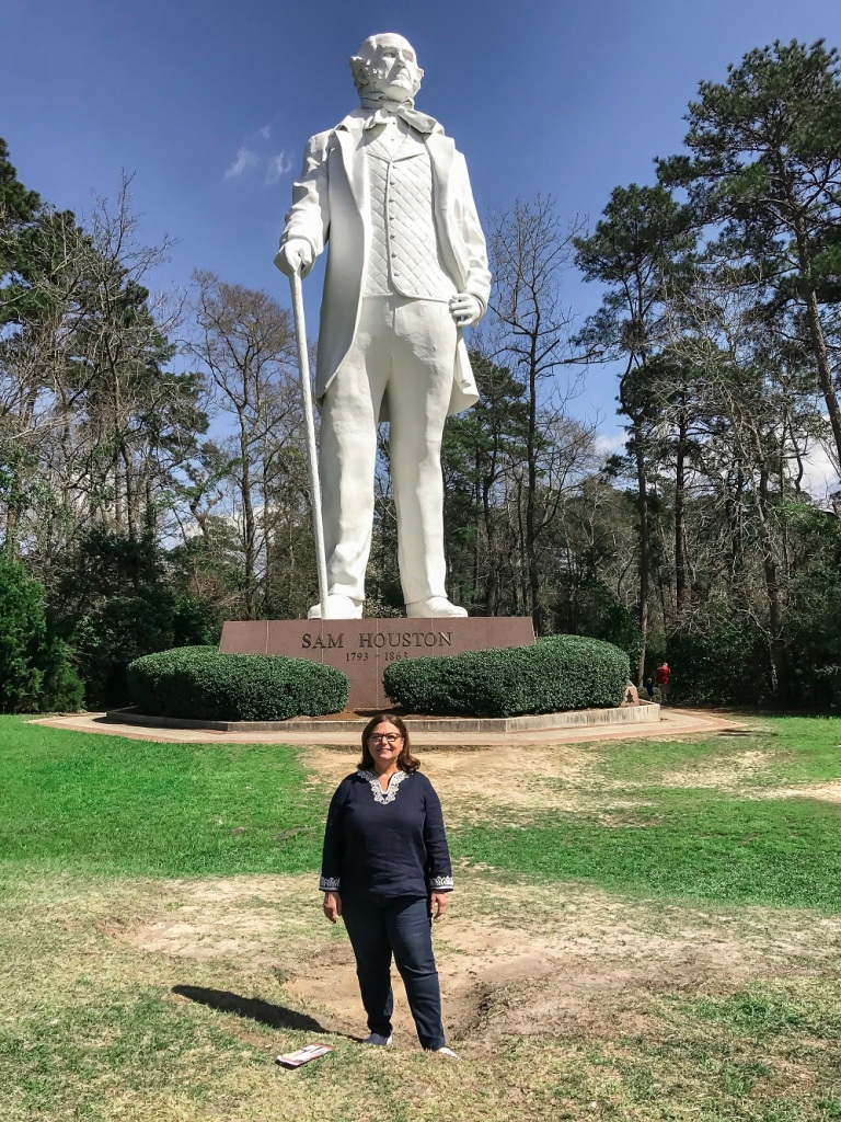 Nancy Bocskor, Sam Houston Statue, LEAP Center, Huntsville, David Adickes
