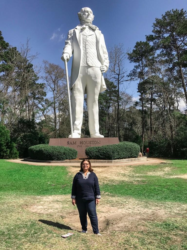 Nancy Bocskor, Sam Houston Statue, LEAP Center, Huntsville, David Adickes