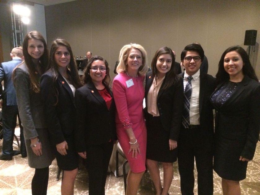 President Dana Hoyt, TSUS Foundation Gala, LEAP Ambassadors, SHSU, LEAP Center