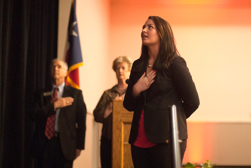 Makayla Mason, Pledge of Allegiance, Reagan Dinner, Walker County Republican Party, George P. Bush, LEAP Center