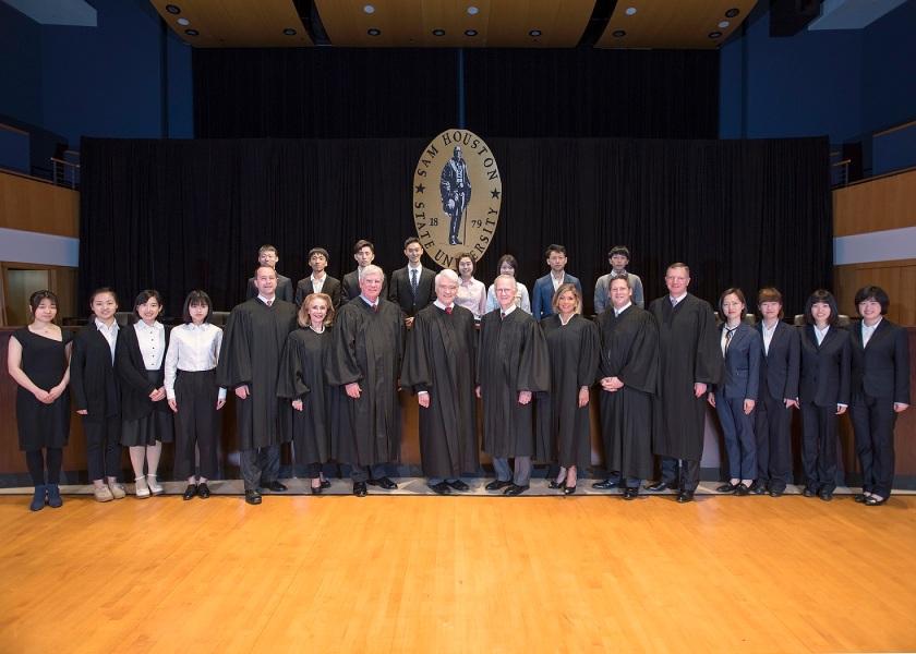 Texas Supreme Court, LEAP Ambassadors, SHSU, LEAP Center, Center for Law Engagement And Politics