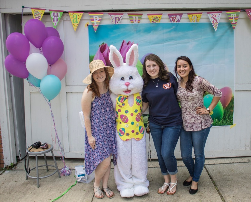 Wynne Home Arts Center, Easter Egg Hunt, City of Huntsville Interns, LEAP Center Intern, LEAP Center, Center for Law Engagement And Politics, SHSU, Jessica Northam, Bella Abril, Allison Faith, Bianca Saldierna