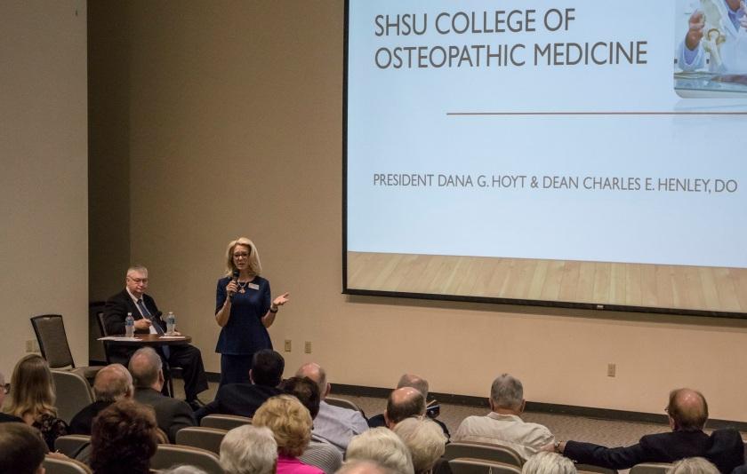 LEAP Center, Center for Law Engagement And Politics, SHSU, Founders Day, Sam Houston Austin Internship Program, President Dana Hoyt