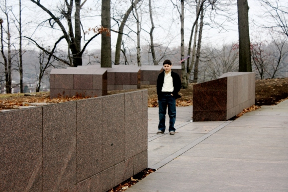 Ryan at Kent State Memorial