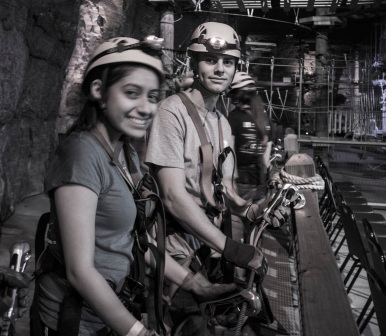 Ryan on the ropes in the Megacavern