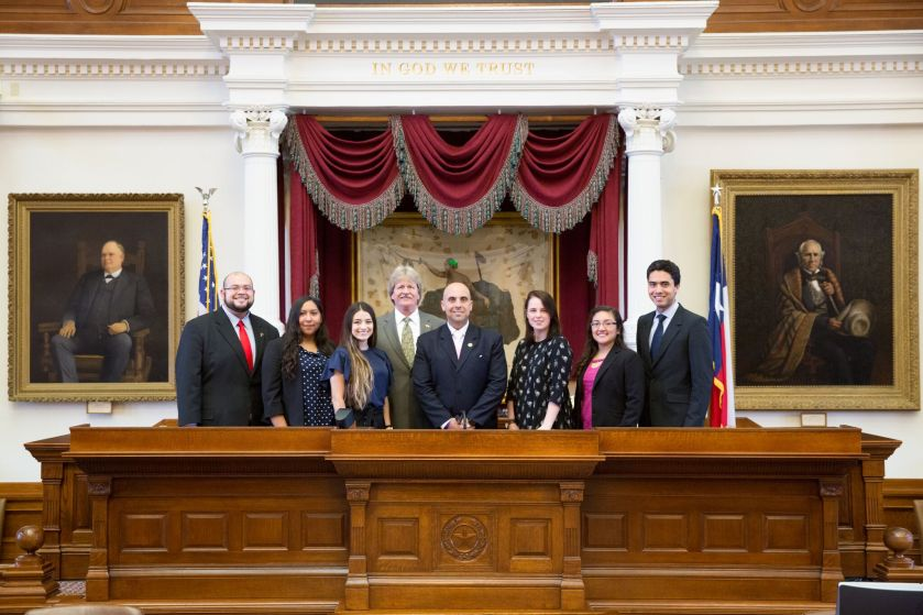 Sam Houston Austin Internship Program, SHAIP, Austin Interns, Texas State Capitol, SHSU, LEAP Center, Center for Law Engagement And Politics, Armando Martinez, Mando Martinez
