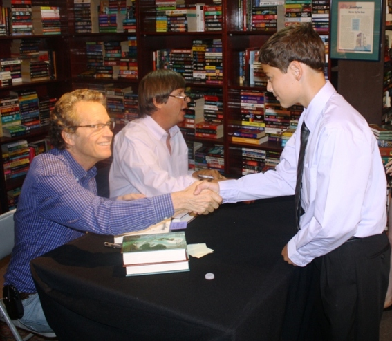 Ryan with author Ridley Pearson