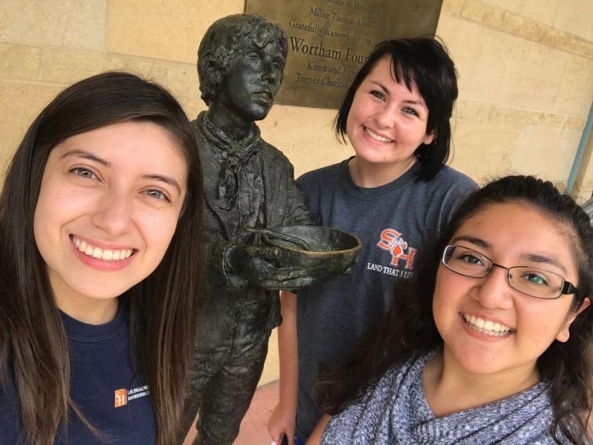 Enrico Cerrachio, Sam Houston Sculpture, LEAP Ambassadors, Center for Law Engagement And Politics, LEAP Center, Hermann Park, Oliver Twist, Trace Guthrie