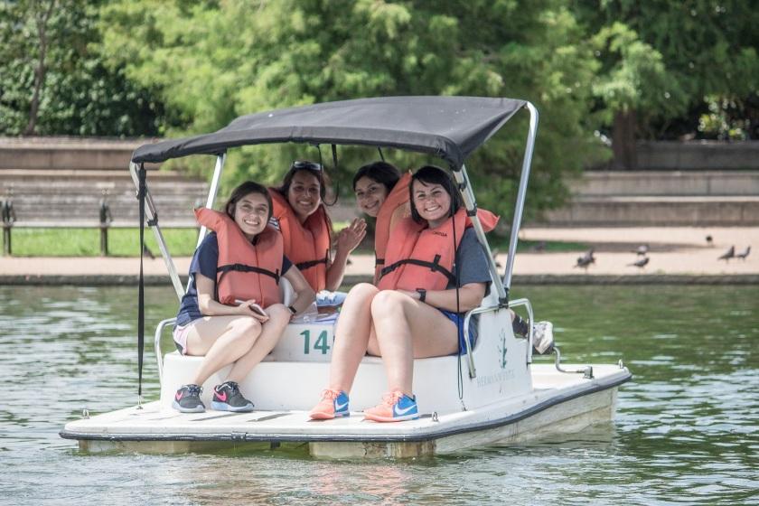 Sam Houston State University, LEAP Ambassadors, Center for Law Engagement And Politics, LEAP Center, Hermann Park, Pedal Boat