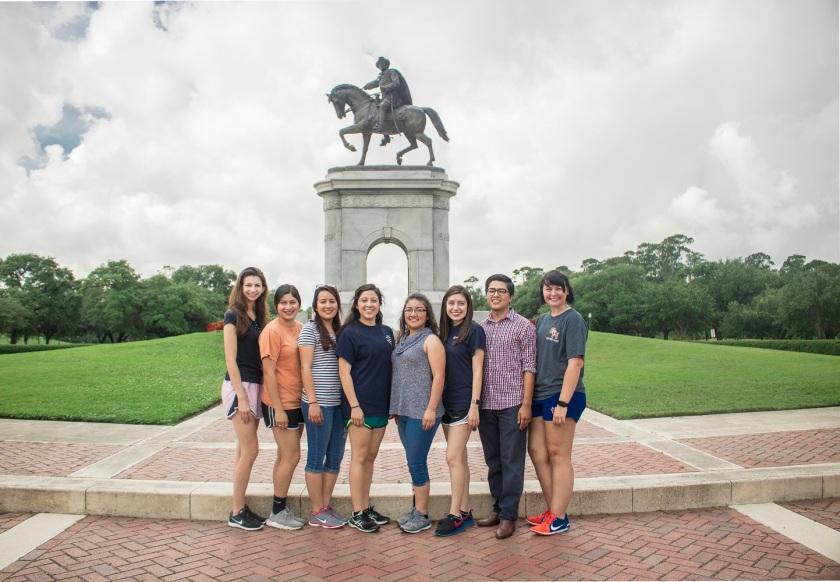 Enrico Cerrachio, Sam Houston Sculpture, LEAP Ambassadors, Center for Law Engagement And Politics, LEAP Center, Hermann Park